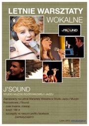 Letnie Warsztaty Wokalne w Studiu j'Sound